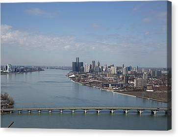 Detroit Skyline Canvas Print by Catherine DeDecker