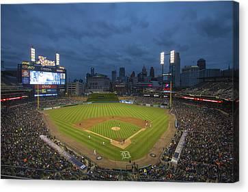 Detroit Tigers Comerica Park 2 Canvas Print by David Haskett