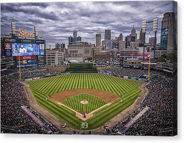 Detroit Tigers Comerica Park 4837 Canvas Print by David Haskett