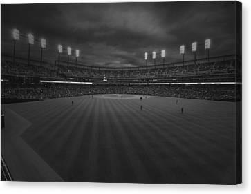 Detroit Tigers Comerica Park Bw 4930 Canvas Print by David Haskett