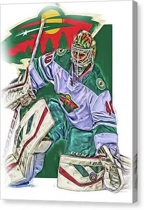 Devan Dubnyk Minnesota Wild Oil Art Canvas Print by Joe Hamilton