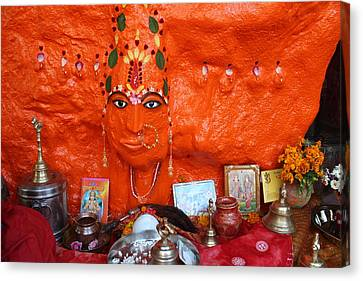 Devi Temple, Nanital Canvas Print by Jennifer Mazzucco