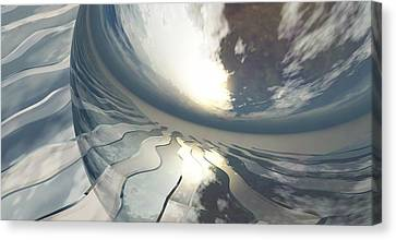 Deviating World Canvas Print by Richard Rizzo