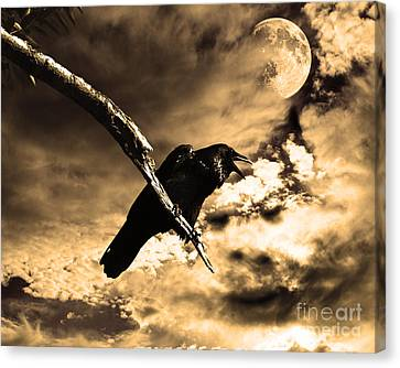 Devil In The Clouds Canvas Print by Wingsdomain Art and Photography