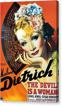 Devil Is A Woman, The, Marlene Canvas Print by Everett