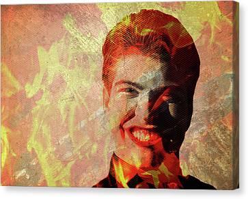 Devil Man Grin Canvas Print by Maria Dryfhout