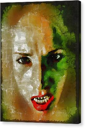 Devil Woman Canvas Print by Mary Bassett