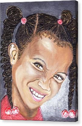 Devilish Grin  Canvas Print by Keenya  Woods
