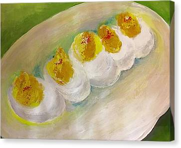 Devilled Eggs Canvas Print by Lisa Kaiser