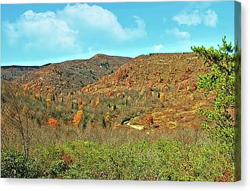 Devils Courthouse Canvas Print by Susan Leggett