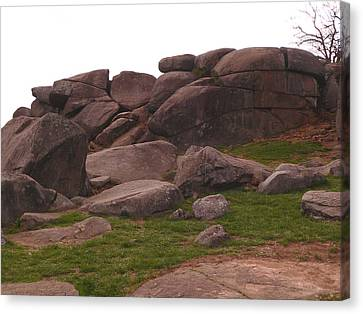 Devils Den At Gettysburg Canvas Print by David Bearden