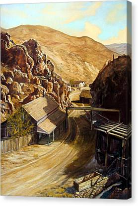 Devils Gate Nevada Canvas Print by Evelyne Boynton Grierson