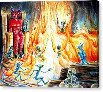 Devil's Inferno II Canvas Print by Heather Calderon