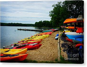 Devil's Lake Baraboo Wisonsin Canvas Print by Celestial Images
