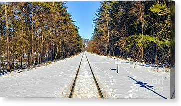 Canvas Print featuring the photograph Devil's Lake Railroad by Ricky L Jones