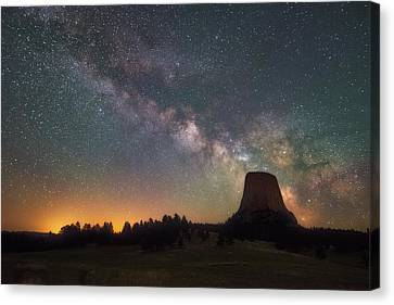 Canvas Print featuring the photograph Devils Night Watch by Darren White