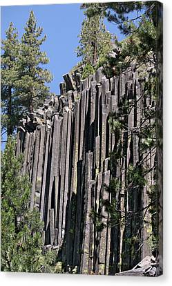 Woodpile Canvas Print - Devils Postpile National Monument - Mammoth Lakes - East California by Christine Till