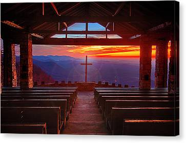Devine Sunrise Canvas Print