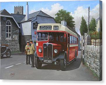 Devon General Aec Regal. Canvas Print by Mike  Jeffries
