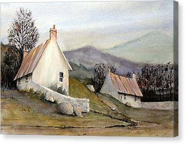 Devonshire Cottage I Canvas Print by Charles Rowland