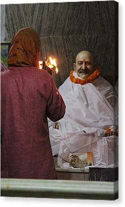 Devotion To Baba, Vrindavan Canvas Print