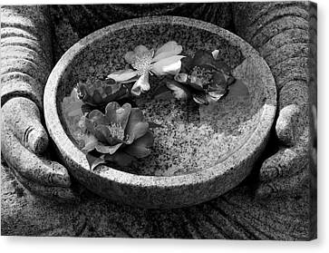 Devotional Black-and-white Version Canvas Print by Dean Harte