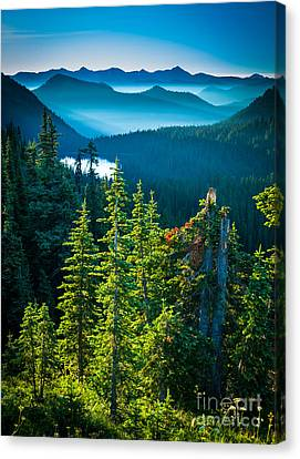 Dewey Lake Canvas Print by Inge Johnsson