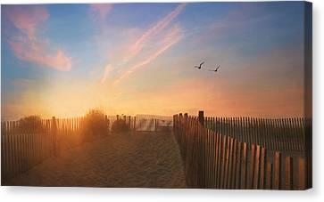 Dewey Sunrise 1 Canvas Print by Lori Deiter
