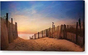 Dewey Sunrise 2 Canvas Print by Lori Deiter