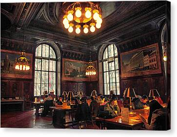 Canvas Print featuring the photograph Dewitt Wallace Periodical Room by Jessica Jenney