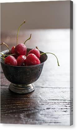 Dewy Cherries Canvas Print