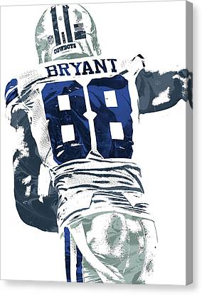 Canvas Print featuring the mixed media Dex Bryant Dallas Cowboys Pixel Art 6 by Joe Hamilton