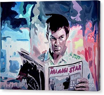 Dexter Morgan Canvas Print - Dexter Morgan by Anastasiia Antonova