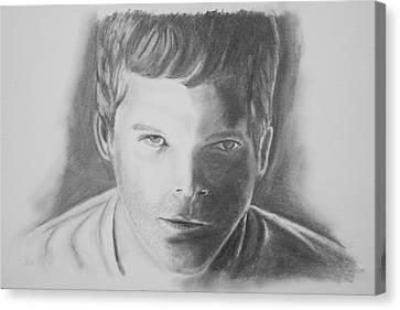 Dexter Morgan Canvas Print - Dexter Morgan by Jeff Noble