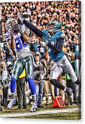 Bryant Canvas Print - Dez Bryant Cowboys Art 5 by Joe Hamilton