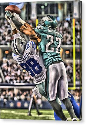 Dez Bryant Dallas Cowboys Art Canvas Print