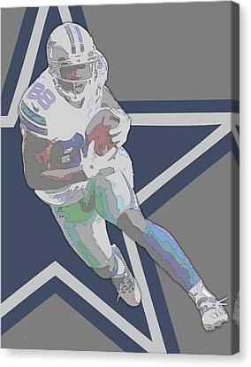 Dez Bryant Dallas Cowboys Contour Art Canvas Print by Joe Hamilton