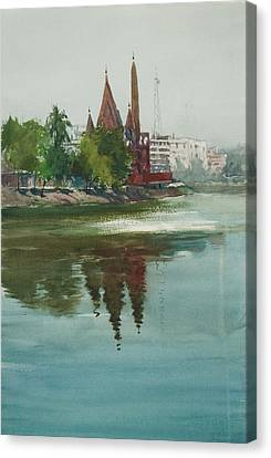 Dhanmondi Lake 04 Canvas Print by Helal Uddin