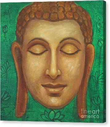 Dhyana Buddha Canvas Print by Nayna Tuli Fineart