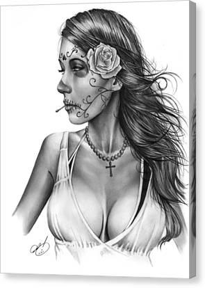 Dia De Los Muertos 1 Canvas Print by Pete Tapang