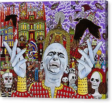 Public Holiday Canvas Print - Dia De Los Muertos by Alan Morrison