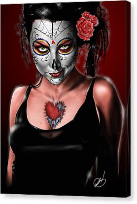 Tapang Canvas Print - Dia De Los Muertos The Vapors by Pete Tapang
