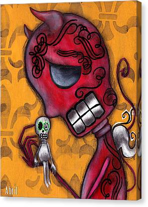 Diablito Canvas Print by  Abril Andrade Griffith