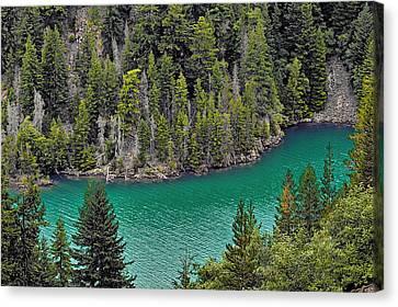 Volcanic Canvas Print - Diabolo Lake North Cascades Np Wa by Christine Till