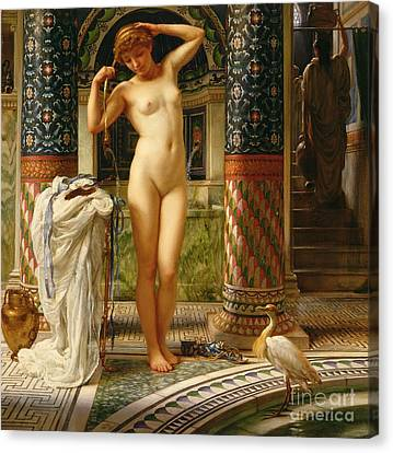 Female Body Canvas Print - Diadumene by Sir Edward John Poynter