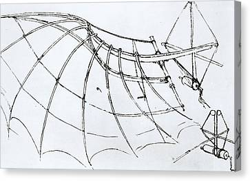 Diagram Of A Mechanical Wing Canvas Print