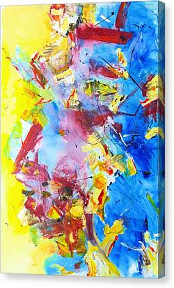 Dialogue In Yellow And Blue Canvas Print
