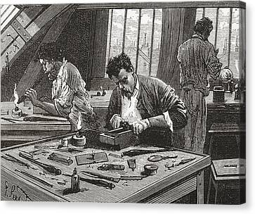 Diamond Cutting In Amsterdam, The Canvas Print