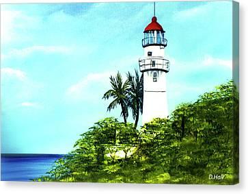 Diamond Head Lighthouse #10 Canvas Print by Donald k Hall