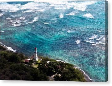 Diamond Head Lighthouse Canvas Print by Steven Sparks